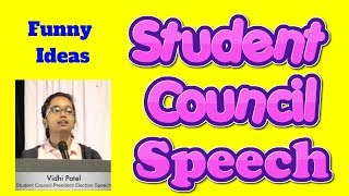 student council speech for funny head boy or girl election in school