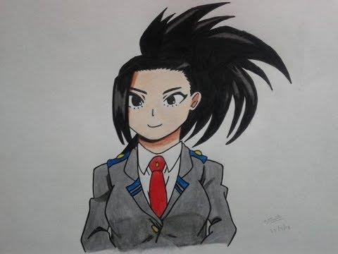 How To Draw Momo Yaoyorozu Boku No Hero Academia Youtube