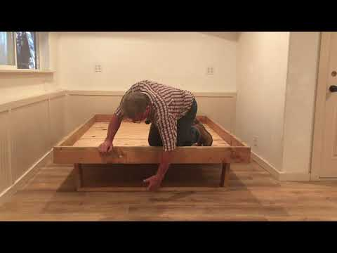 DIY Platform Bed Frame Recycled Lumber Easy!