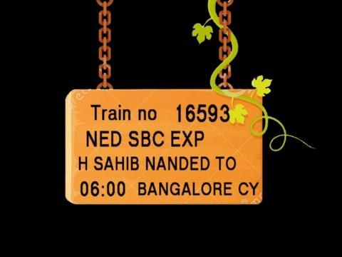 Train No 16593 Train Name NEDSBC EXP HSAHIBNANDED PURNA PARBHANI GANGAKHER  PARLIVAIJNATH