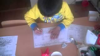 今年4月から1年生になります。割り算を楽々と解いていきます。鶴田式算...
