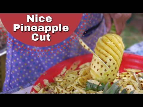 HOW TO CUT PINEAPPLE, Thai Fruit Vendor Phuket ❤️️
