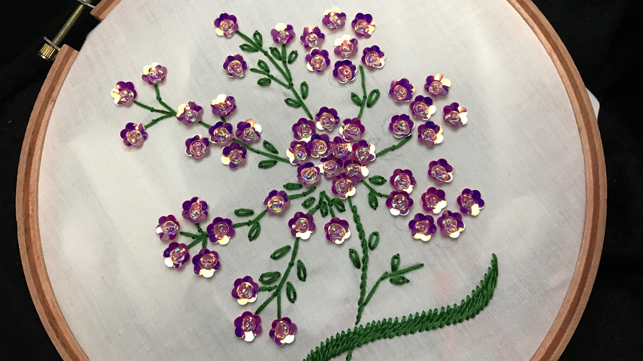 Hand Embroidery Bead Embroidery - YouTube