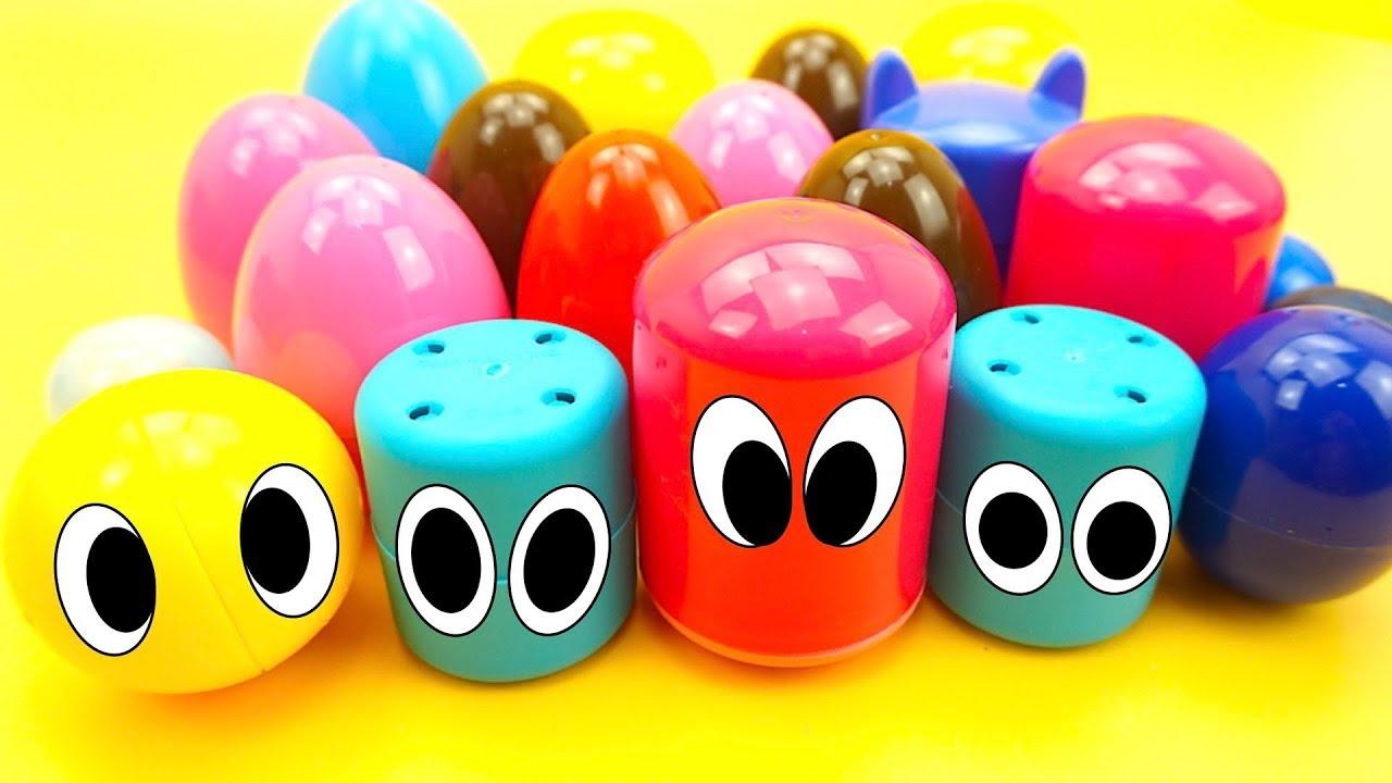Сюрпризы и капсулы с игрушками из мультиков для детей
