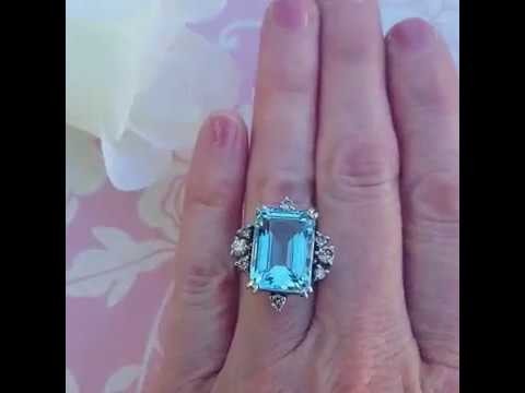 Aquamarine And Blue Topaz Rings Rings Inspired By Meghan
