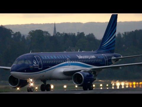 Azerbaijan Airlines Airbus A319 4K-AZ04 Landing at Bern Airport