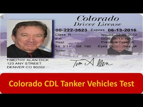 Colorado CDL Tanker Vehicles Test