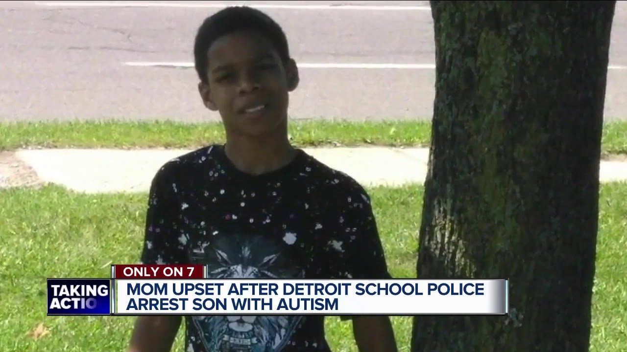 DETROIT, MICHIGAN 13-YEAR OLD BLACK BOY WITH AUTISM HANDCUFFED, ARRESTED AFTER PULLING FIRE ALARM AT