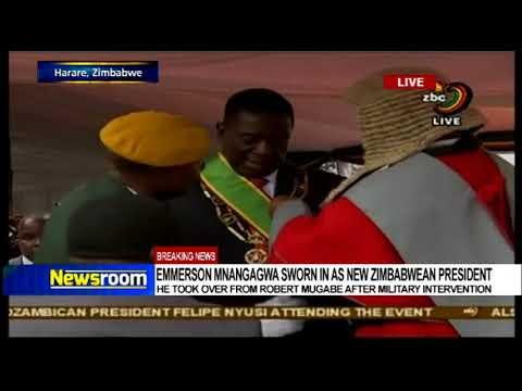 Emmerson Mnangangwa sworn in as new Zimbabwean president