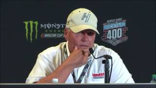 NASCAR at Indianapolis Motor Speedway, August 2017:  Keith Rodden, Rick Hendrick post race