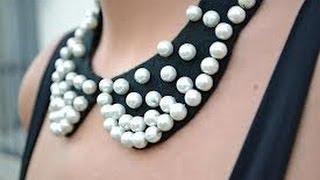 Repeat youtube video ♥DIY♥ como hacer nuestro propio collar tipo babero#tendencia#