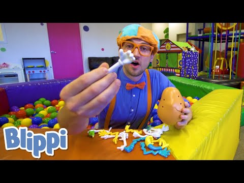 Blippi Learns Human Body Parts At A Fun Indoor Playground! | Educational Videos for Toddlers