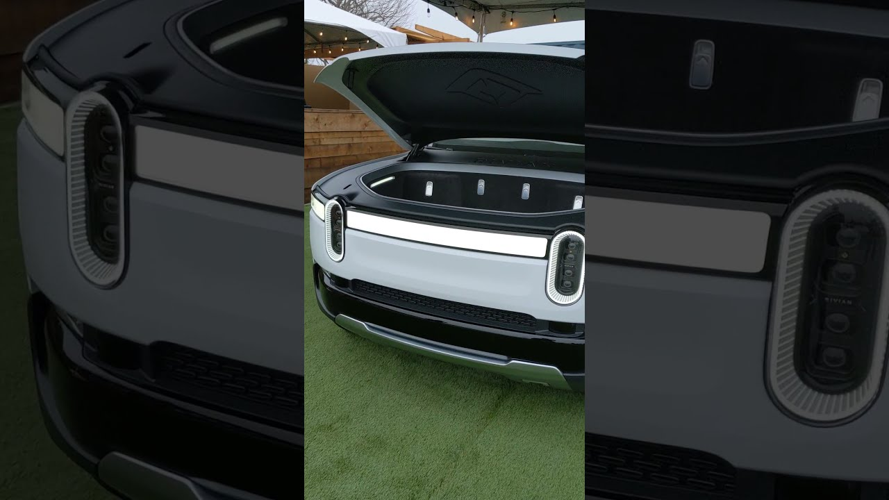 Rivian's Power Frunk Activated with Alexa #Shorts