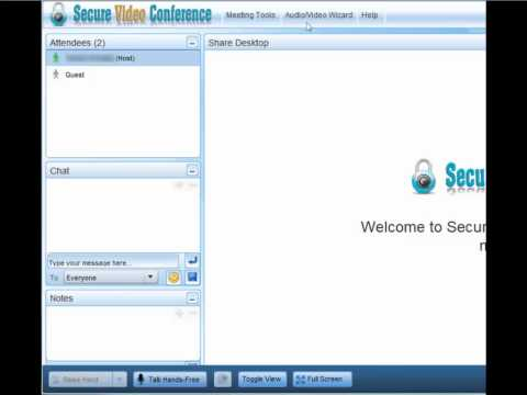 Secure Video Conference Meeting Room Setup Tour