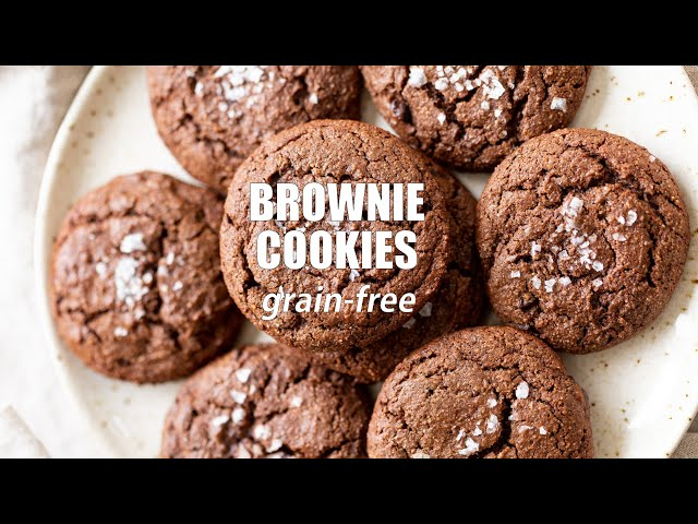 VEGAN BROWNIE COOKIES  - Grain-free, no added oil | Vegan Richa Recipes