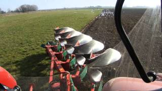 case ih puma 230 cvx ploughing from cab