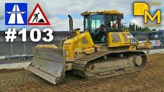 MEGA AUTOBAHN BAUSTELLE #103 🚧 KOMATSU DOZER CATERPILLAR GRADER highway construction