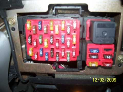hqdefault 2000 lincoln towncar fuse relay diagram youtube 1999 lincoln town car fuse box diagram at crackthecode.co