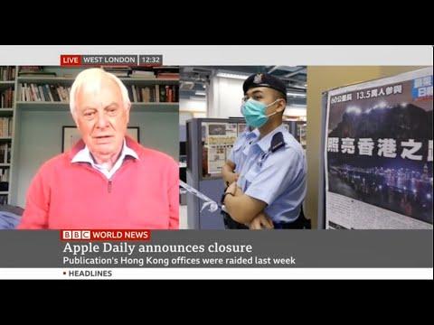 BBC World News: Apple Daily announces closure after raids