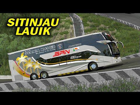Bus Tronton SAN Mencoba Lewat Sitinjau Lauik- Euro Truck Simulator 2