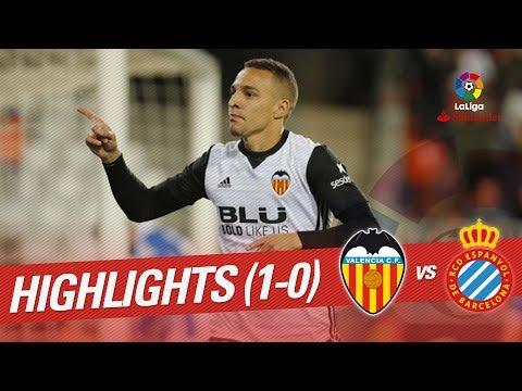 Resumen de Valencia CF vs RCD Espanyol (1-0)