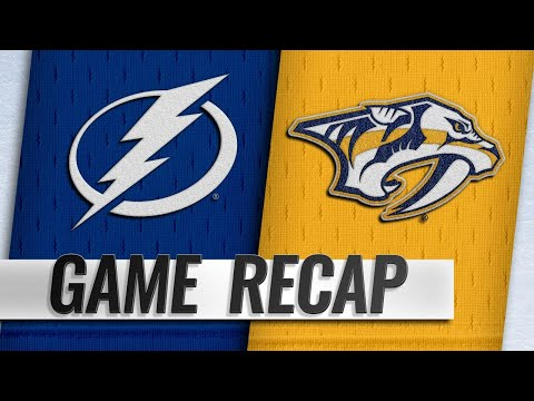 Johansen, Rinne lead Preds past Lightning, 3-2