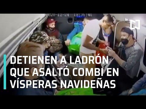 Detienen a ladrón del asalto a transporte público en Ecatepec en vísperas de navidad - Las Noticias