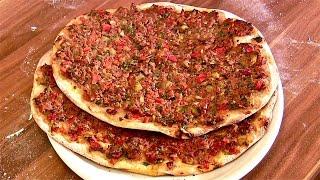 Lahmacun Rezept-lahmacun Selber Machen-türkische Pizza-teig-belag Selber Machen