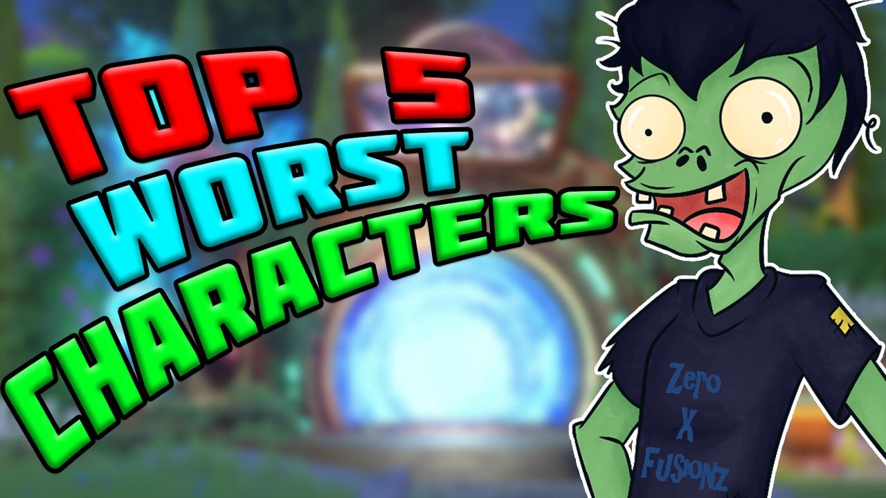 TOP 5 WORST CHARACTERS?! Plants vs Zombies Garden Warfare 2