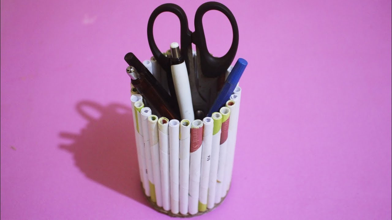 Kerajinan Simple Dari Bahan Bekas - Tempat Pensil Unik ...