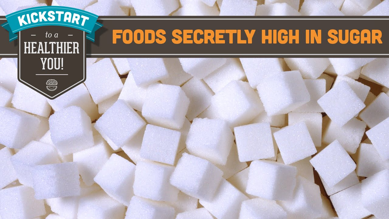 Warning - 12 Foods High in Sugar Revealed Here! What may surprise you is that your sugar intake may still be excessively high even after you've cut out 'sweets,' because sugar is hidden in many, many foods (including some you think are savory). Here are 12 foods high in sugar that you may not know.