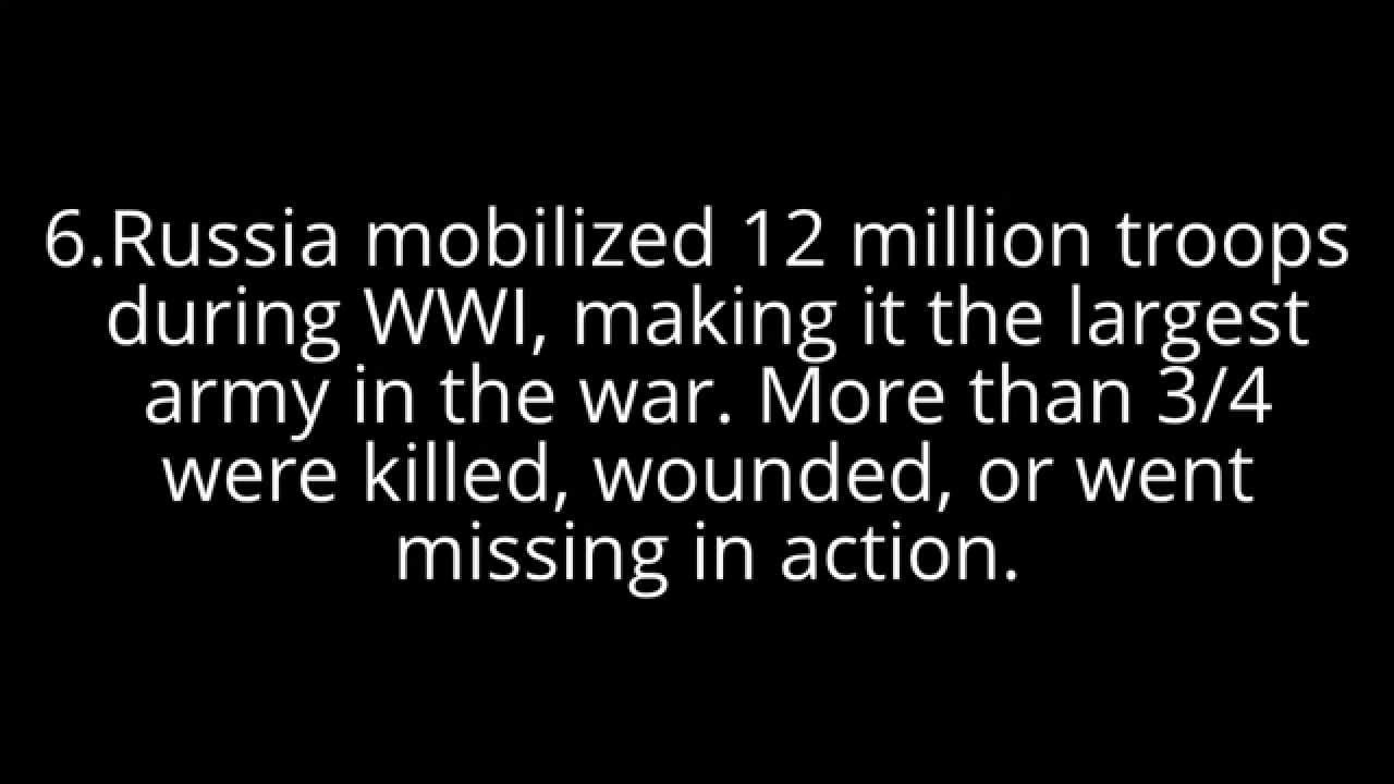 Ten Interesting facts about ww1 - YouTube