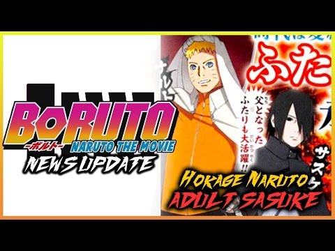 HOKAGE Naruto + ADULT Sasuke OFFICIAL Anime Character Designs BORUTO Naruto the Movie-