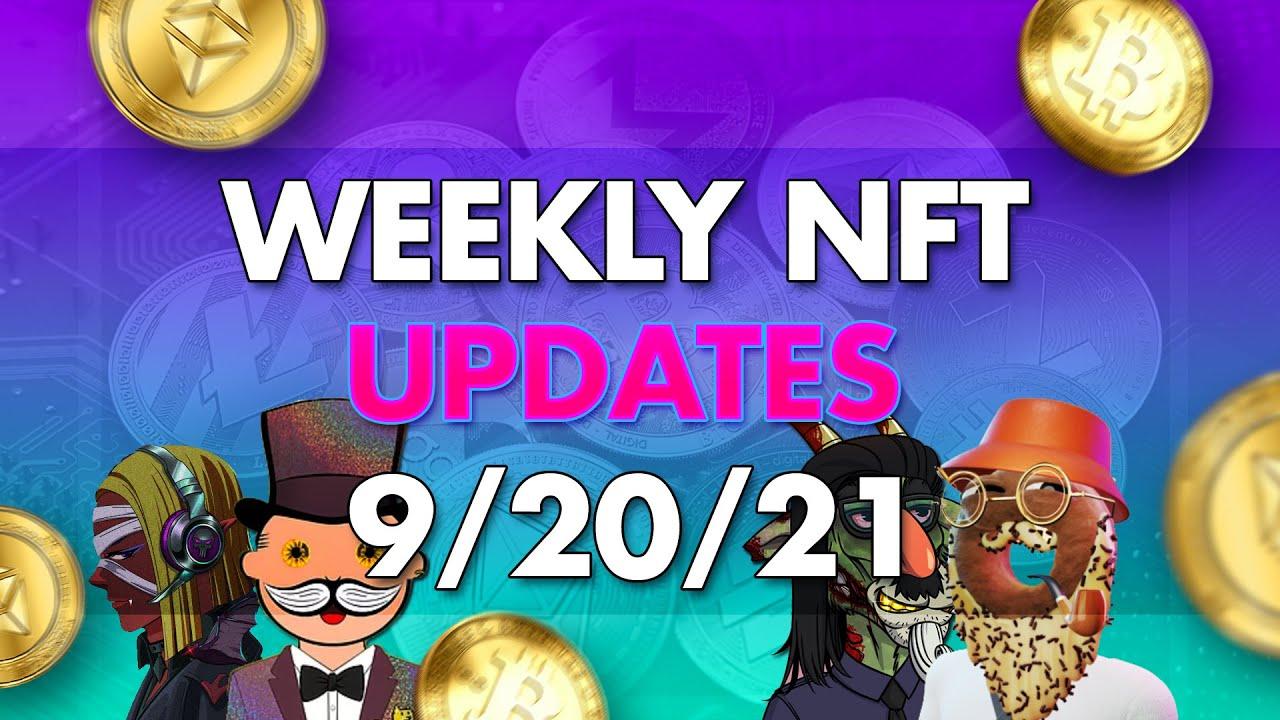 Download NFT Updates &  Drops - Week of 9/20/21