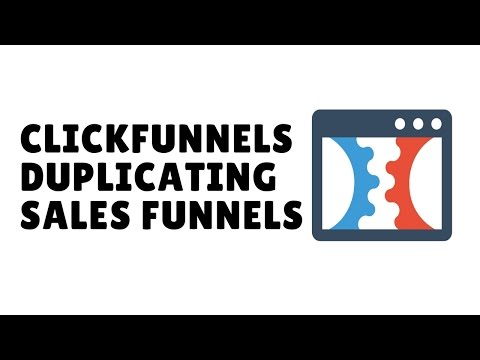 How To Duplicate An Entire Clickfunnels Sales Funnel