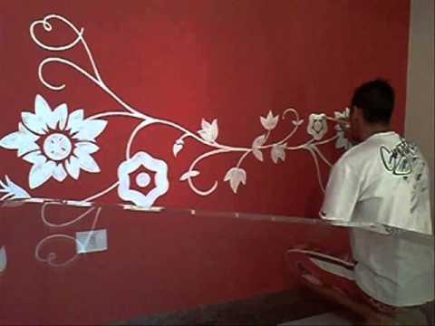 Pinturas e decora o desenho decorativo sala de jantar - Moldes para pintar paredes ...