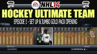 NHL 14: Hockey Ultimate Team with Team Nadasfan EP1 (Jumbo Gold Pack Opening)