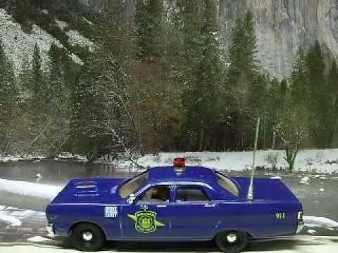 Car Tail Lights >> Custom 1969 Plymouth Fury Michigan State Police car with working lights 43rd O scale - YouTube