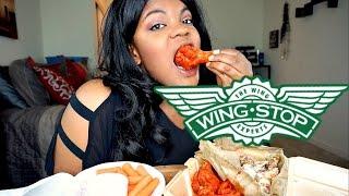 WingStop MUKBANG [Buffalo & Garlic Parmesan Wings] Eating Show