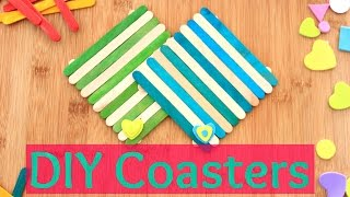 DIY crafts: COASTERS using ice-cream sticks