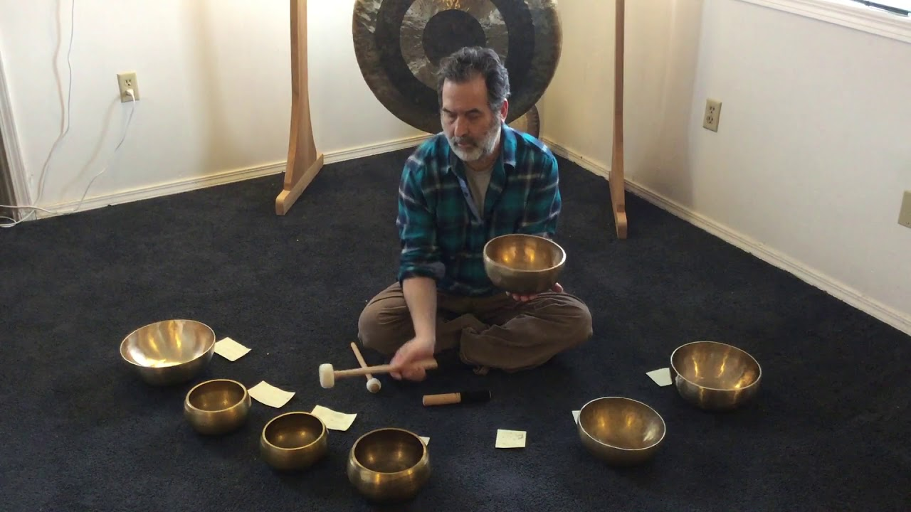 The Sounds of Atlantis - Set of 7 Singing Bowls - A: 432 Hz Tuning