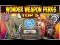 TOP 5 WONDER WEAPONS THAT NEED PERKS - Call Of Duty Zombies (WAW-BO3)
