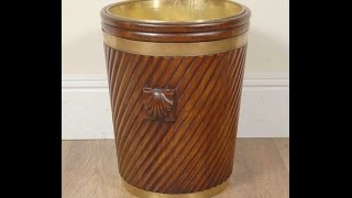 English Peat Bucket Coal Scuttle Planter