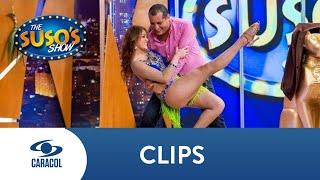 ¿Qué tal lo hizo? 'El Flaco' Solórzano se le midió al reto de bailar salsa | Caracol Televisión