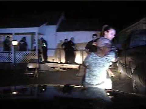 Muskogee police pepper spray 84-year-old woman (3 of 4 raw videos: Casady Car Video)