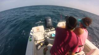 Frying Pan Tower Fishing in a 21 foot Sea Chaser