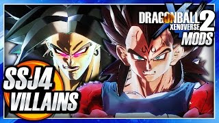 Dragon Ball Xenoverse 2 PC: Super Saiyan 4 Majin Vegeta Vs Broly (SSJ4 Super-Villains) Mod Gameplay