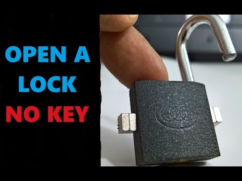 how to open lock without key hack MAGNET - YouTube