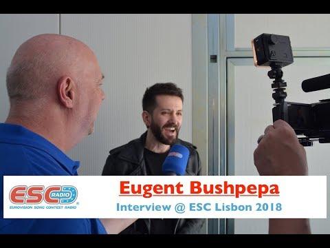 Eugent Bushpepa (Albania) - interview Eurovision Lisbon 2018
