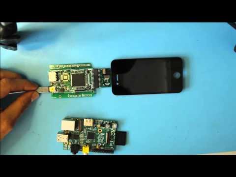Raspberry Pi driving an Iphone 4 LCD